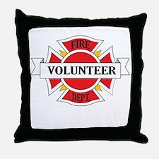 Fire department volunteer Throw Pillow