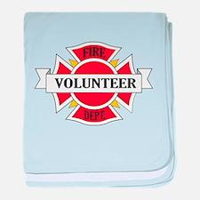 Fire department volunteer baby blanket