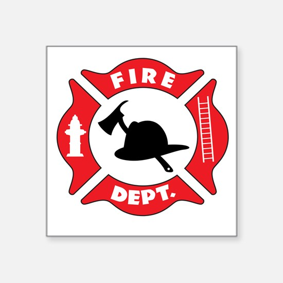 Fire department 2 Sticker