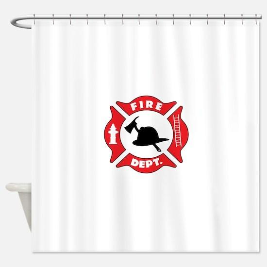 Fire department 2 Shower Curtain