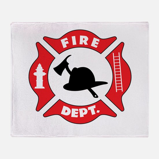 Fire department 2 Throw Blanket