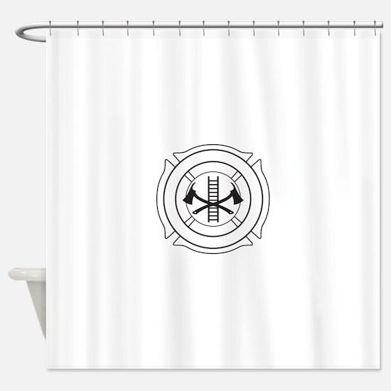 Fire dept logo Shower Curtain