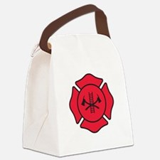 Fire dept symbol 2 Canvas Lunch Bag