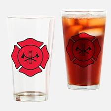 Fire dept symbol 2 Drinking Glass