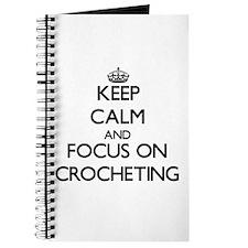 Cool Keep calm and crochet Journal