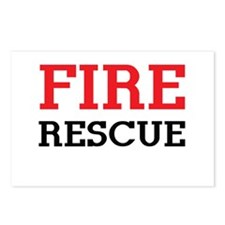 Fire rescue Postcards (Package of 8)