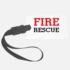 Fire rescue Luggage Tag