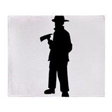 Firefighter silhouette Throw Blanket