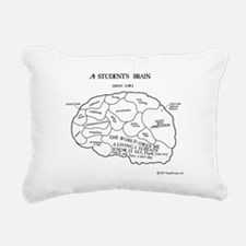 Students Brain Rectangular Canvas Pillow