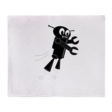 Cute Fly robot Throw Blanket