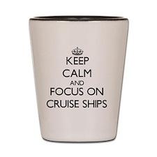 Cute Cruise ships Shot Glass