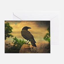 Cute Raven bird Greeting Card