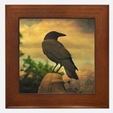 Unique Raven Framed Tile