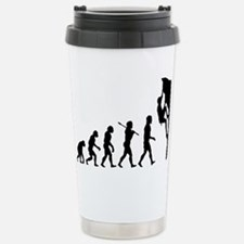 Cute Evolution of rock climbing Travel Mug