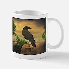 Retro Sky Crow Mugs
