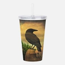 Unique The crow Acrylic Double-wall Tumbler
