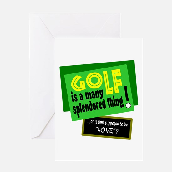 Golf-A Splendored Thing Greeting Cards