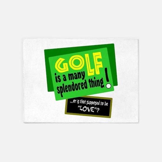Golf-A Splendored Thing 5'x7'Area Rug