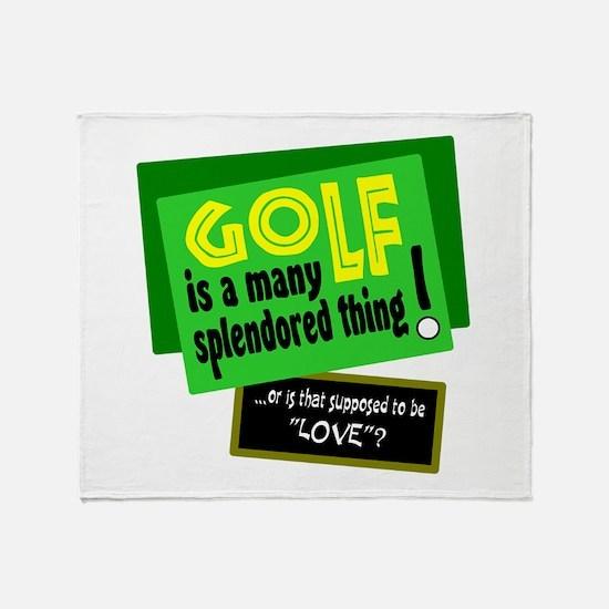 Golf-A Splendored Thing Throw Blanket