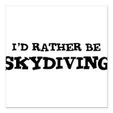 "Cute Skydive Square Car Magnet 3"" x 3"""