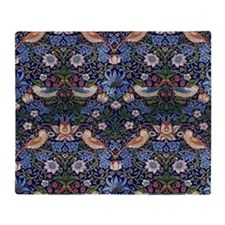 William Morris Strawberry Thief  Throw Blanket