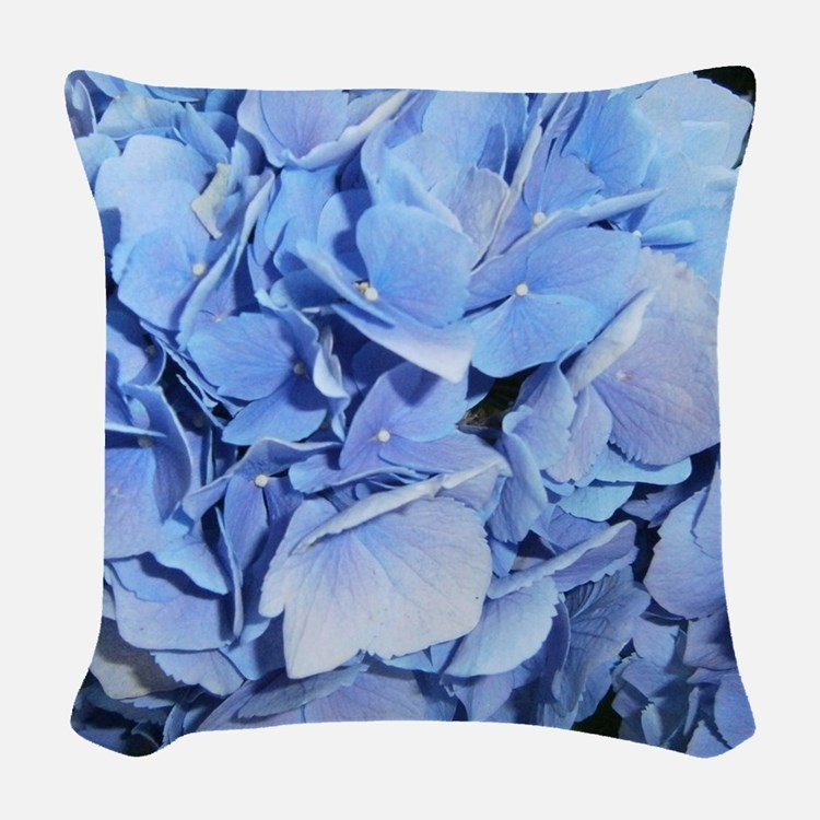 Blue Hydrangea Throw Pillow : Blue Hydrangea Pillows, Blue Hydrangea Throw Pillows & Decorative Couch Pillows