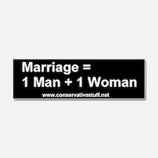 Cute Marriage Car Magnet 10 x 3