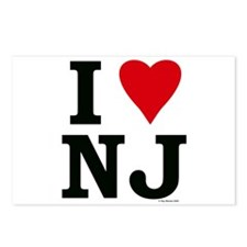 """I LOVE NJ"" Postcards (Package of 8)"