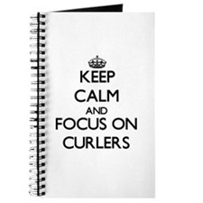 Cute I heart curling Journal