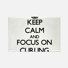 Keep Calm and focus on Curling Magnets