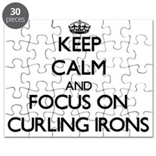 Unique I heart curling Puzzle