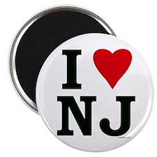"""I LOVE NJ"" Magnet"