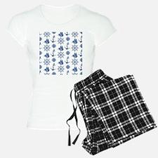 Anchors Blue and White Naut Pajamas