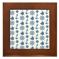 Unique Ship nautical compass Framed Tile