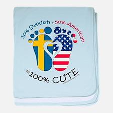 Swedish American Baby baby blanket