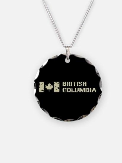 Canadian Flag: British Colum Necklace
