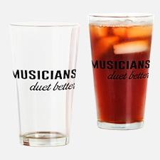 Cute Musicians Drinking Glass