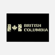 Canadian Flag: British Columbia Rectangle Magnet