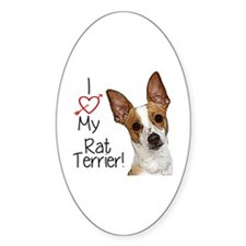 I Love My Rat Terrier! Decal