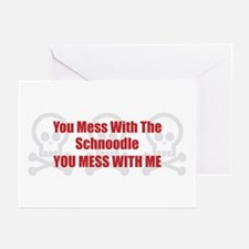 Mess With Schnoodle Greeting Cards (Pk of 10)