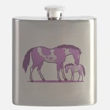 I Love Horse (Purple) Flask