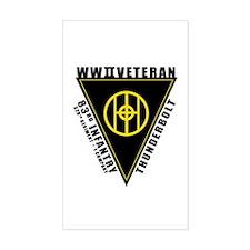 83rd Infantry Vet. I Co. Rectangle Decal