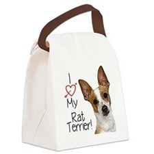 I Love My Rat Terrier (Large) Canvas Lunch Bag