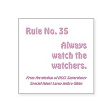 "RULE NO. 35 Square Sticker 3"" x 3"""