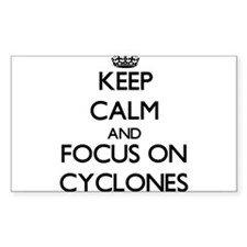 Keep Calm and focus on Cyclones Decal