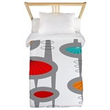 Midcentury modern Luxe Twin Duvet Cover