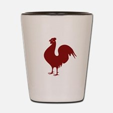 Red Rooster Shot Glass