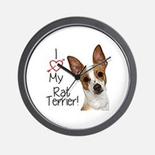 Rat Terrier Wall Clock