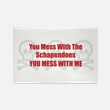 Mess With Schapendoes Rectangle Magnet