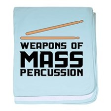 Weapons of Mass Percussion baby blanket
